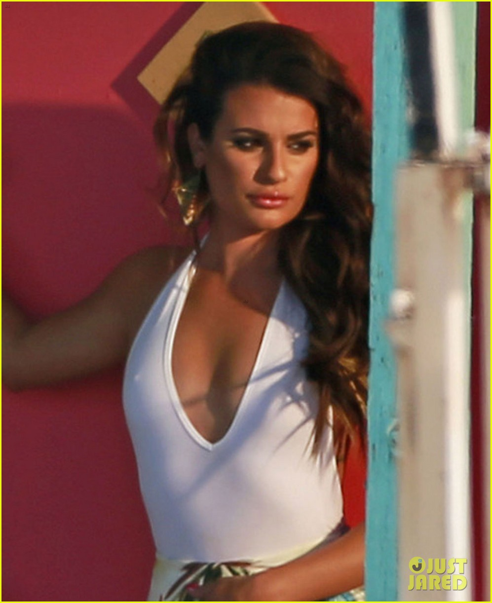 lea michele rocks sexy outfit for on my way video shoot 04