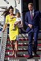 kate middleton changes into yellow dress to arrive in australia 30
