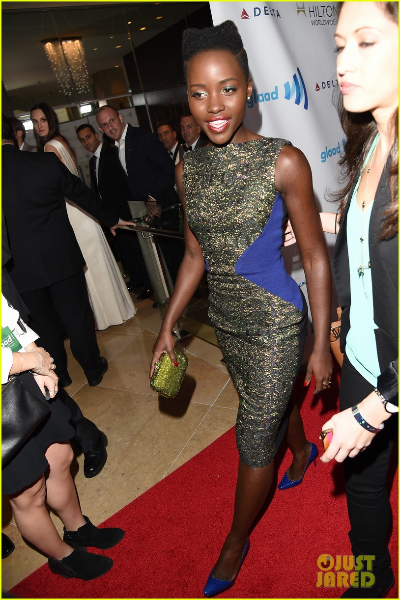 lupita nyongo attends first awards show since the oscars 08