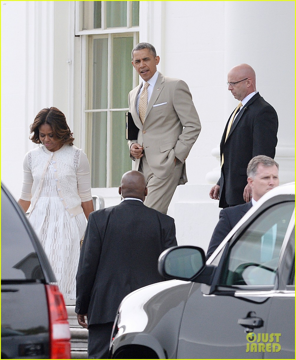 barack michelle obama easter sunday service 03