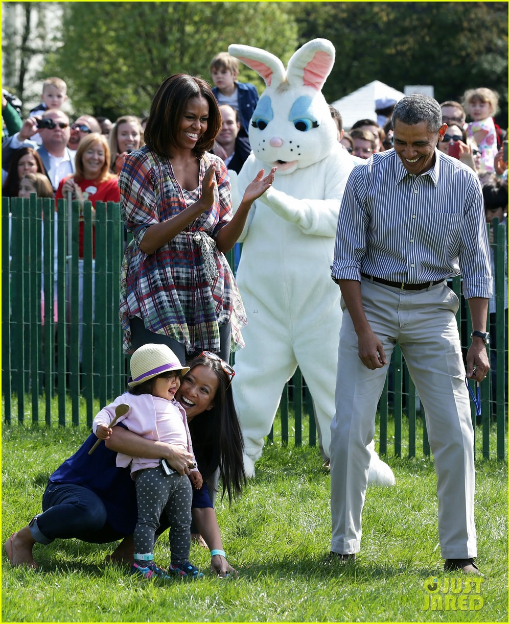 michelle obama white house easter egg roll 163096244