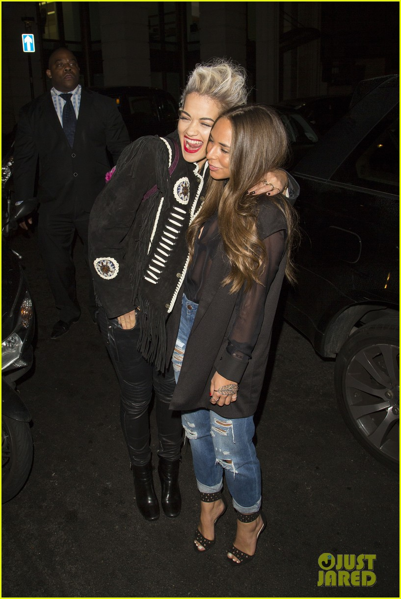 rita ora dines with chloe green at novikov in london 063083836