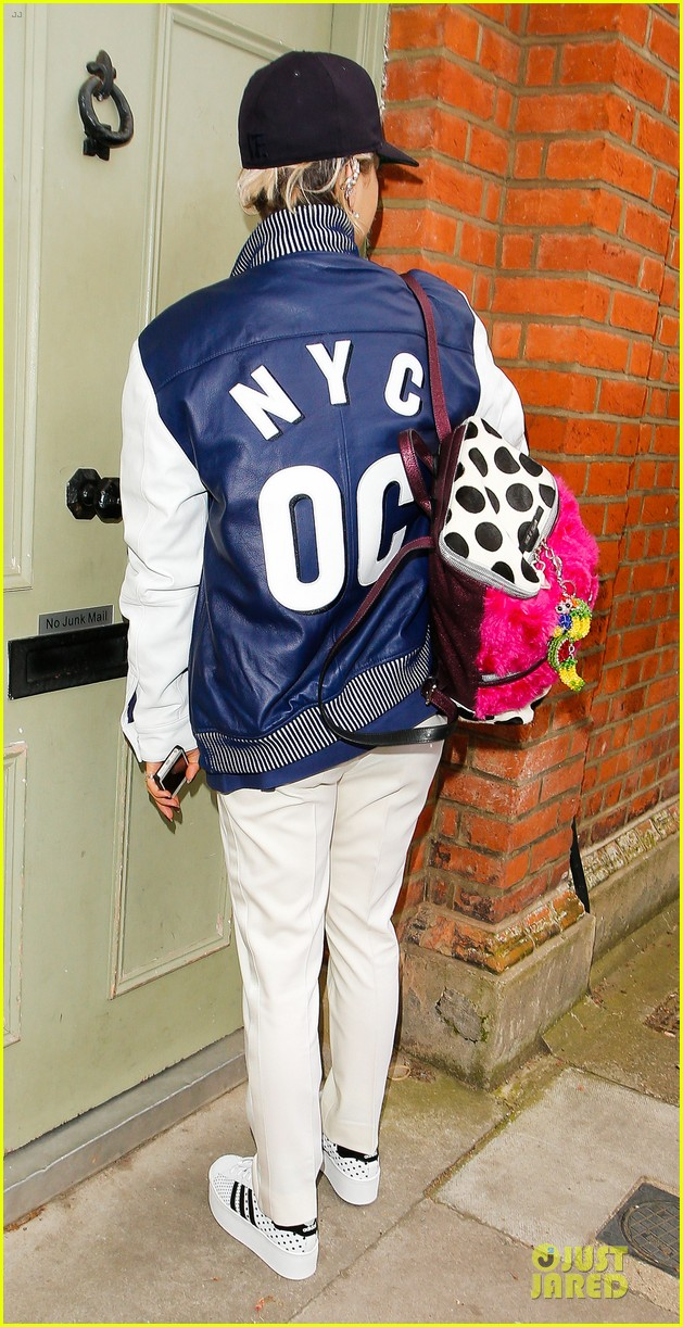 rita ora new hairdo in neon ensemble 153085094