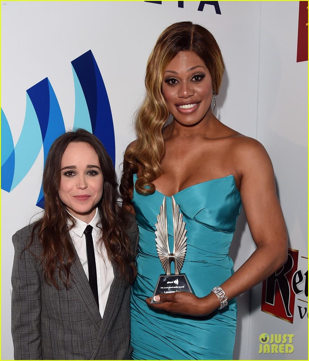 ellen page laverne cox glaad media awards 2014 15