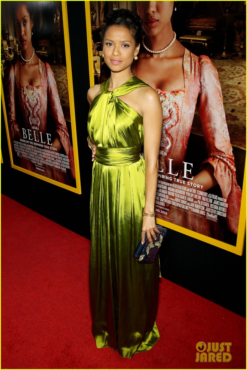 gugu mbatha raw is a green goddess at belle premiere 01