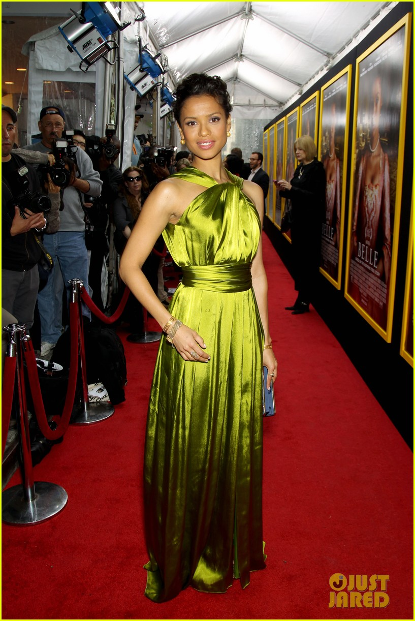 gugu mbatha raw is a green goddess at belle premiere 08
