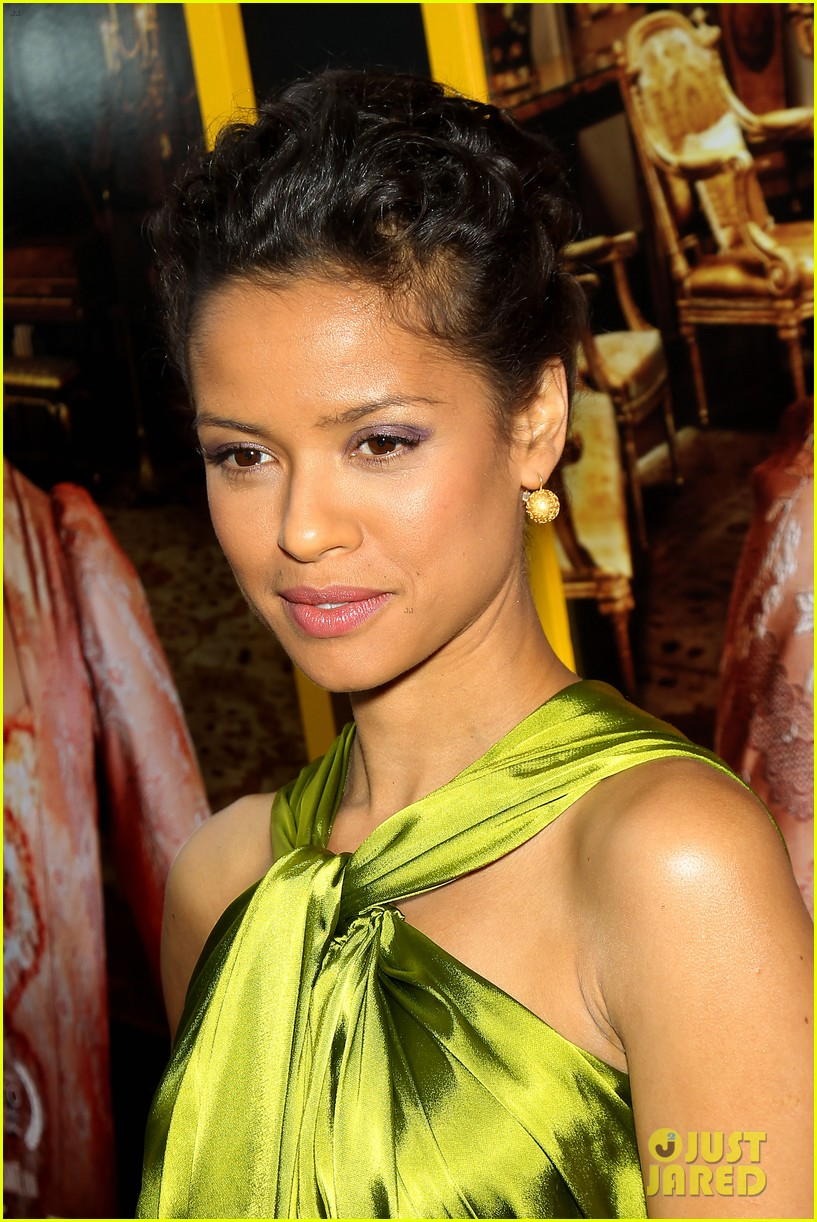 gugu mbatha raw is a green goddess at belle premiere 10