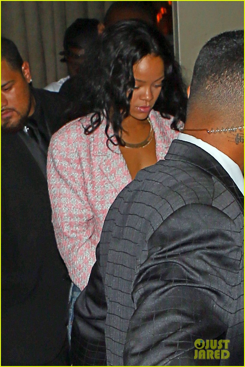 rihanna night out with drake at supperclub 11