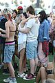 emma roberts evan peters kiss at coachella 15