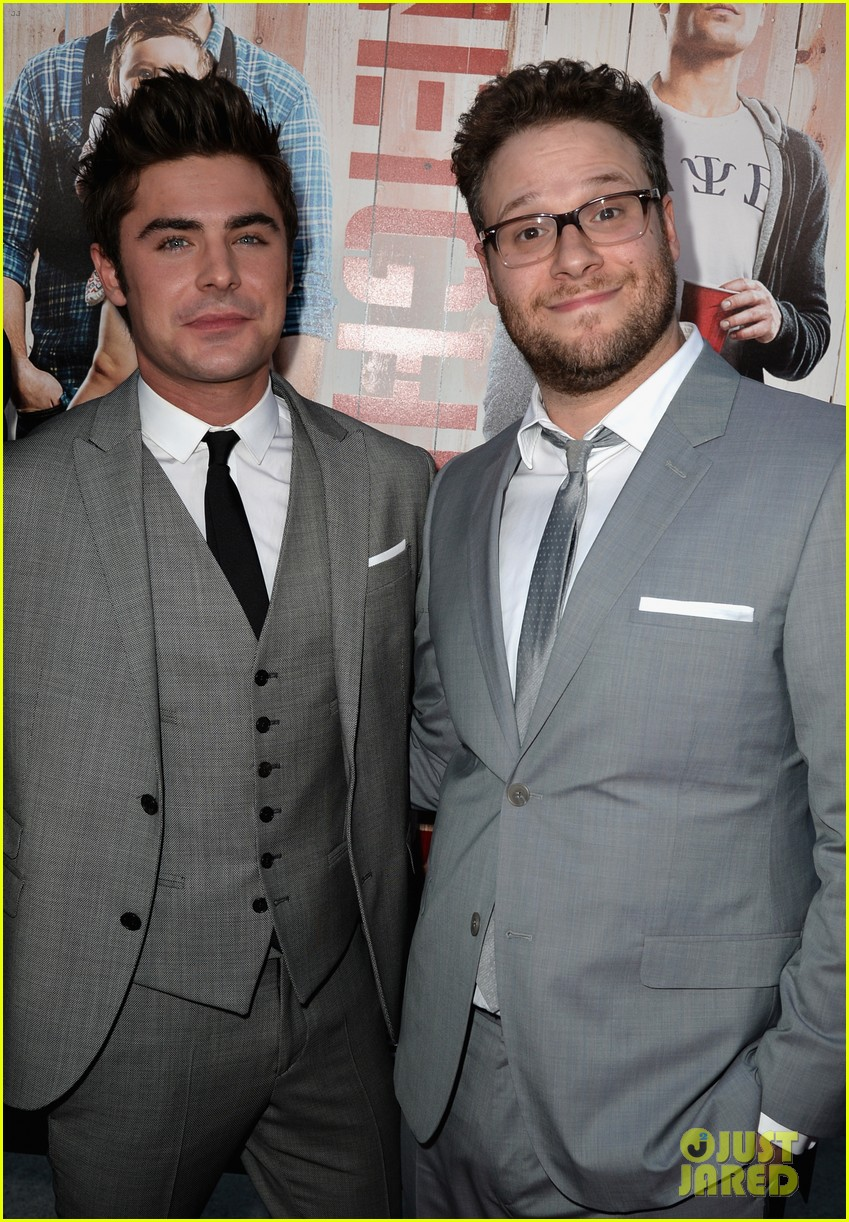 seth rogen dave franco neighbors premiere with halston sage 353101184