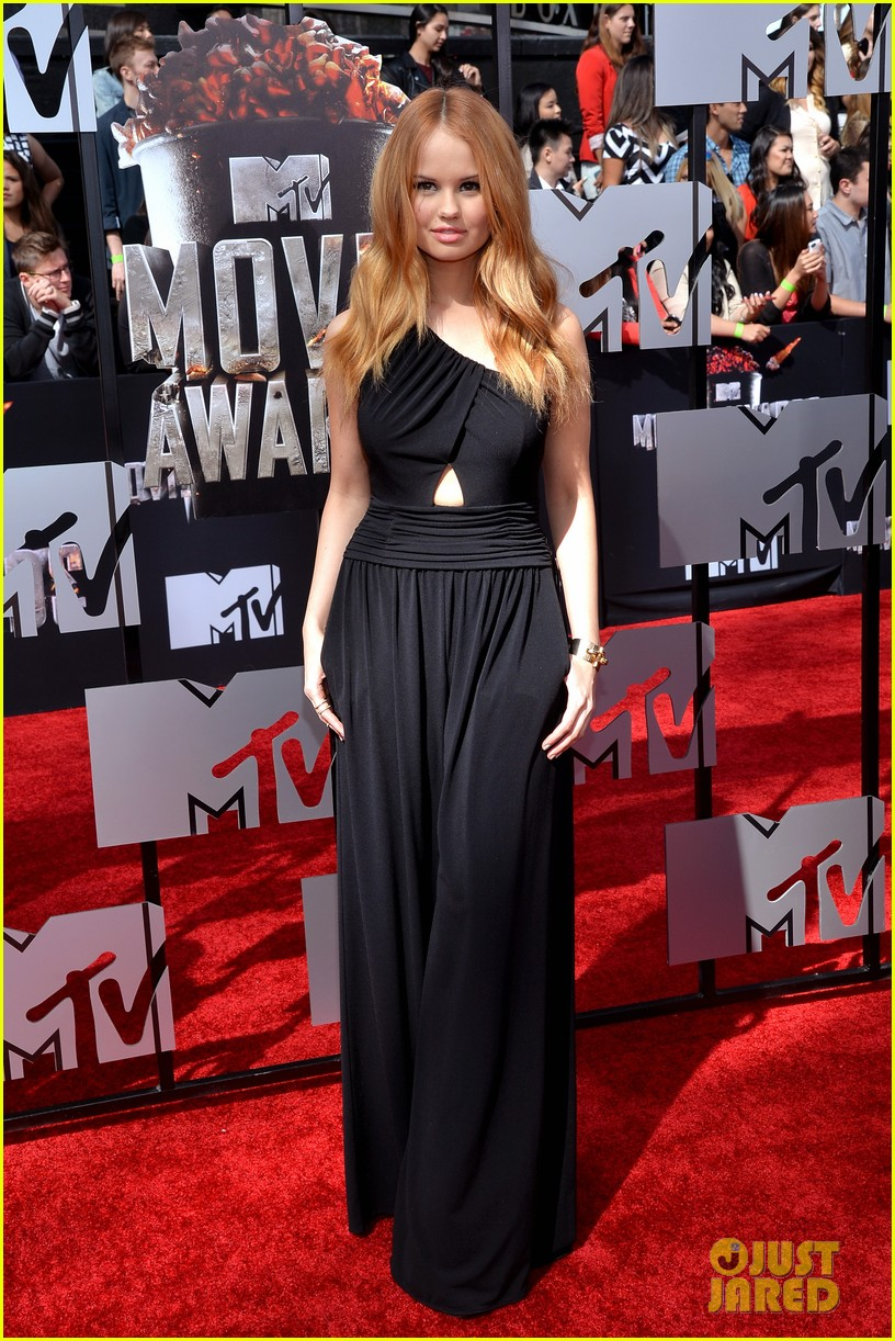 debby ryan rocks one shoulder look at mtv movie awards 2014 043091043