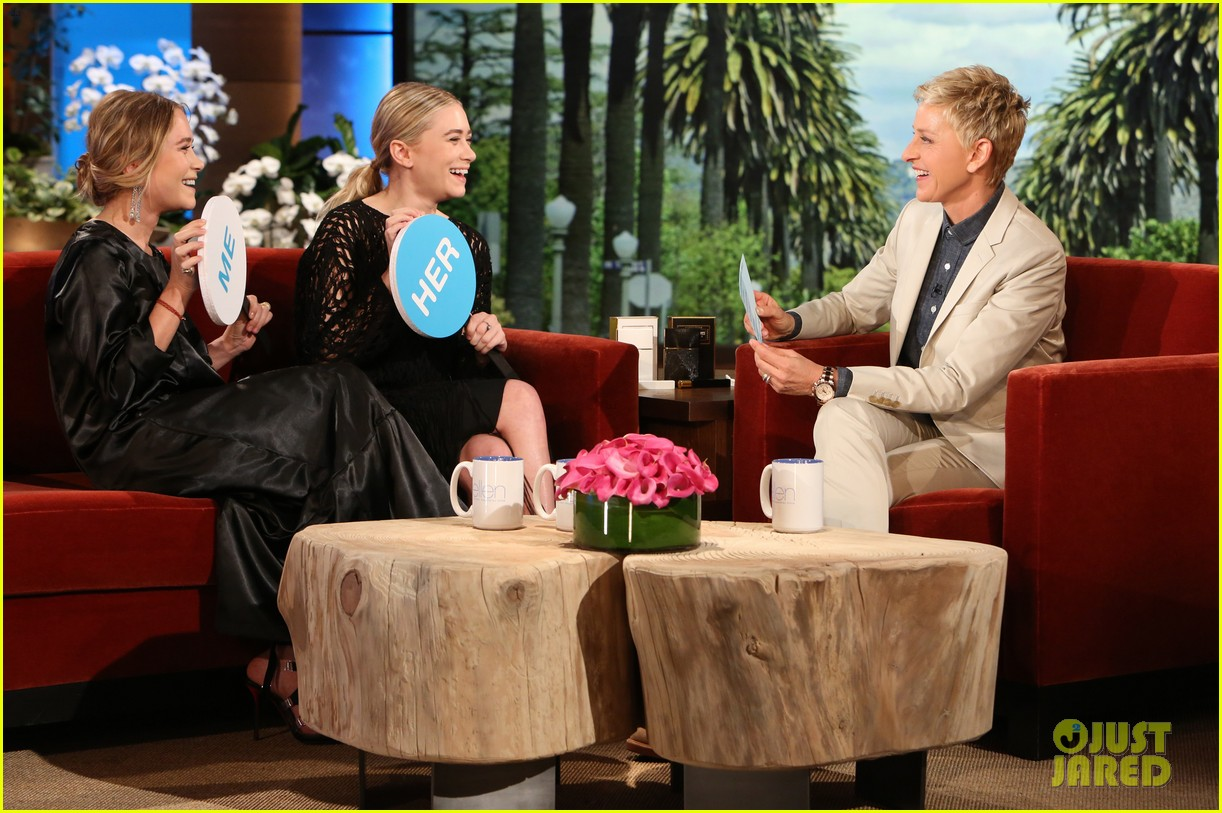 olsen twins play game of mary kate or ashley on ellen 023098846