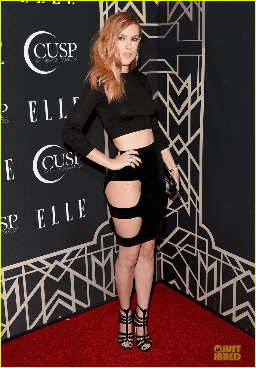 rumer willis cutout dress is sexy at elle music celebration 013097212