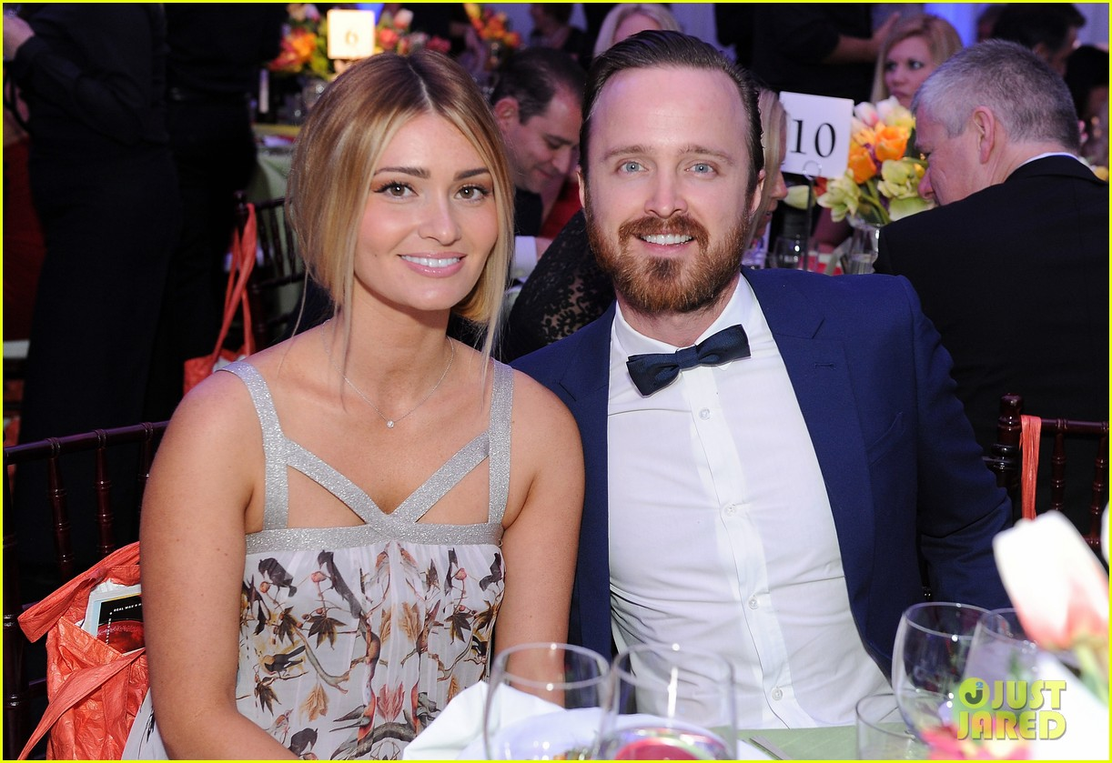 aaron paul wife lauren parksekian open your hearts gala 023110938