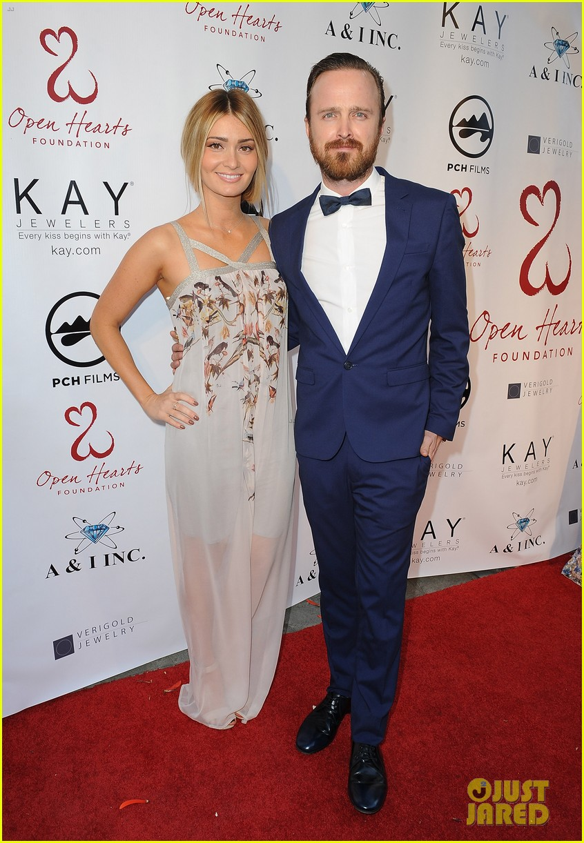 aaron paul wife lauren parksekian open your hearts gala 093110945
