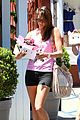 alessandra ambrosio shows off her super long legs in spandex shorts 11