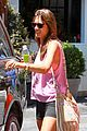 alessandra ambrosio shows off her super long legs in spandex shorts 21