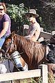 justin bieber shirtless horseback ride 07