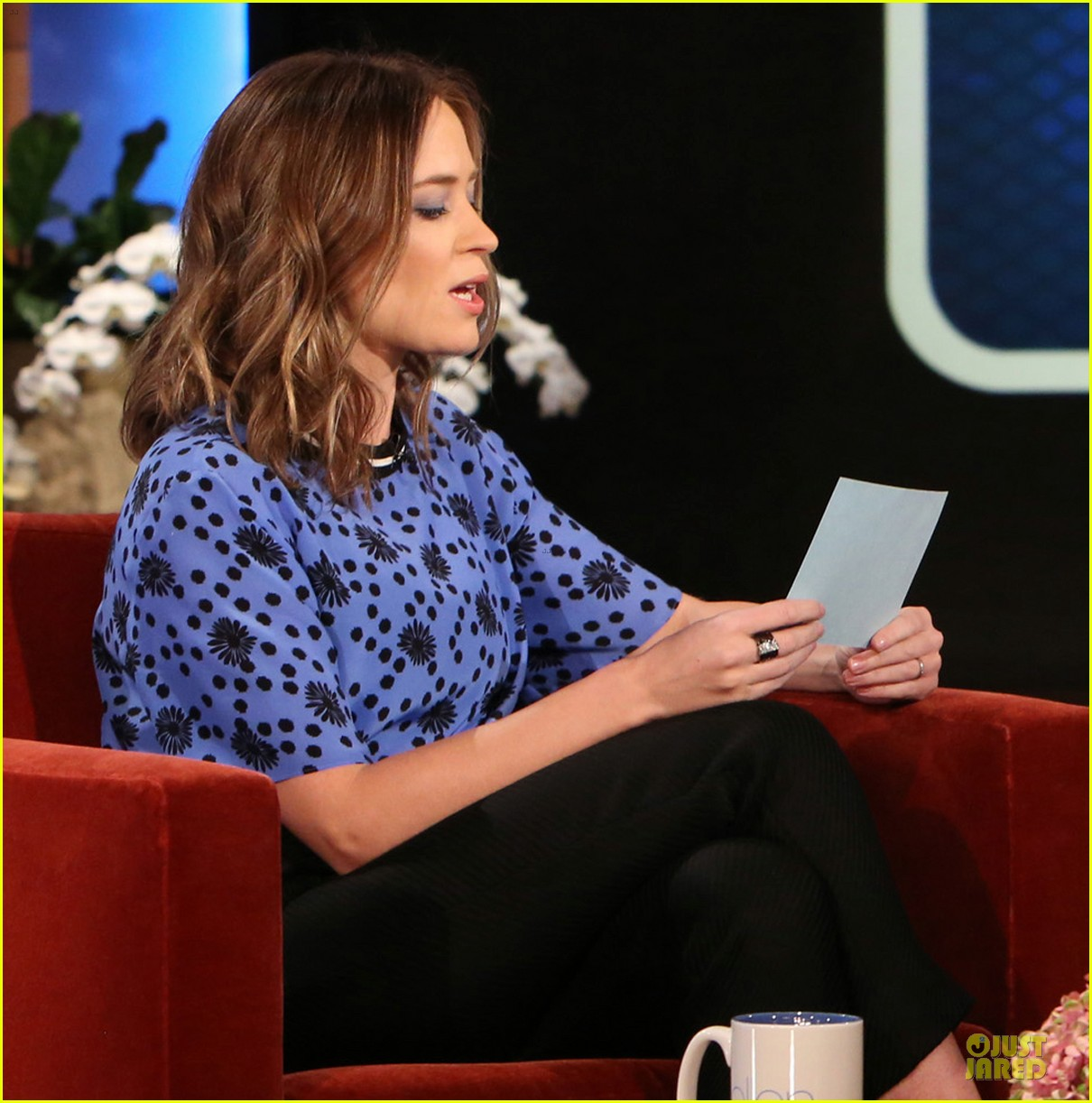 emily blunt opens up on hazel on ellen 023113008