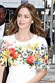 emily blunt floral dress for gma 03