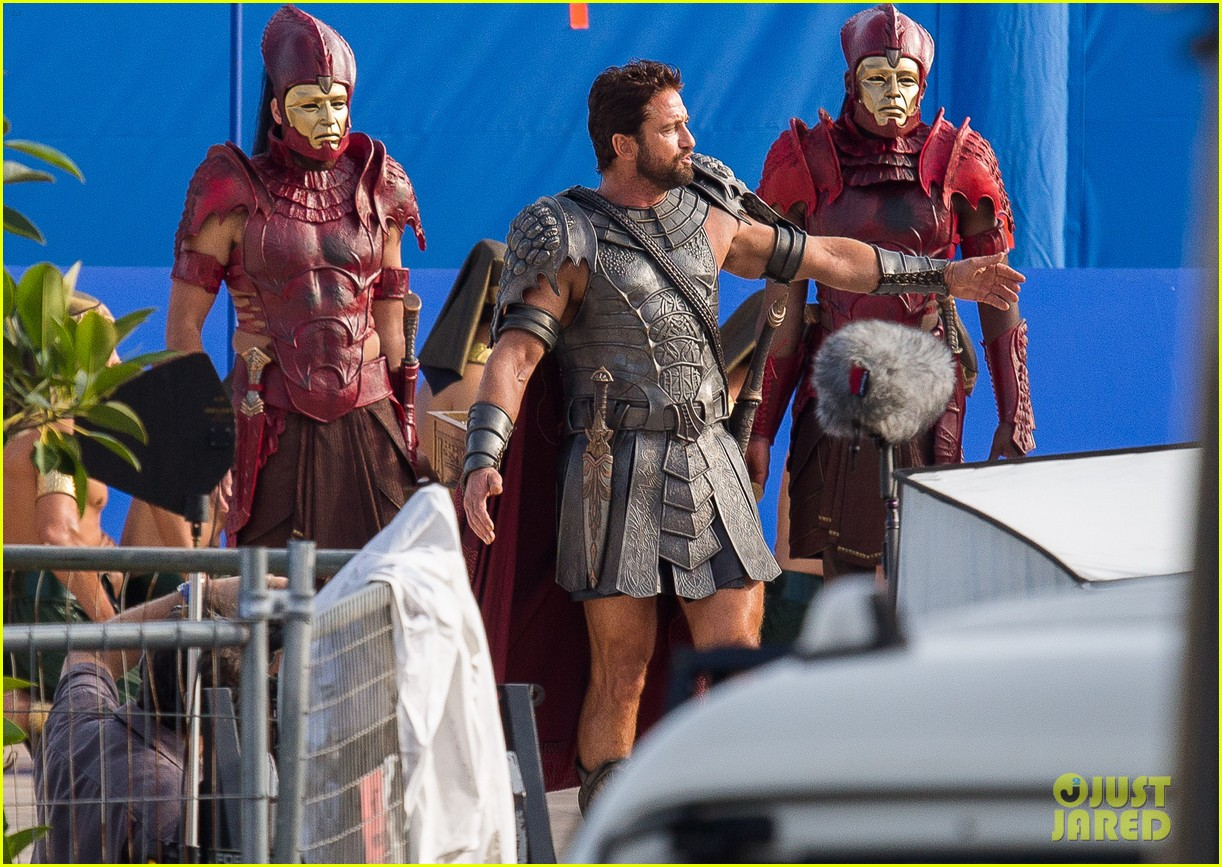 gerard butler gods of egypt filming 07