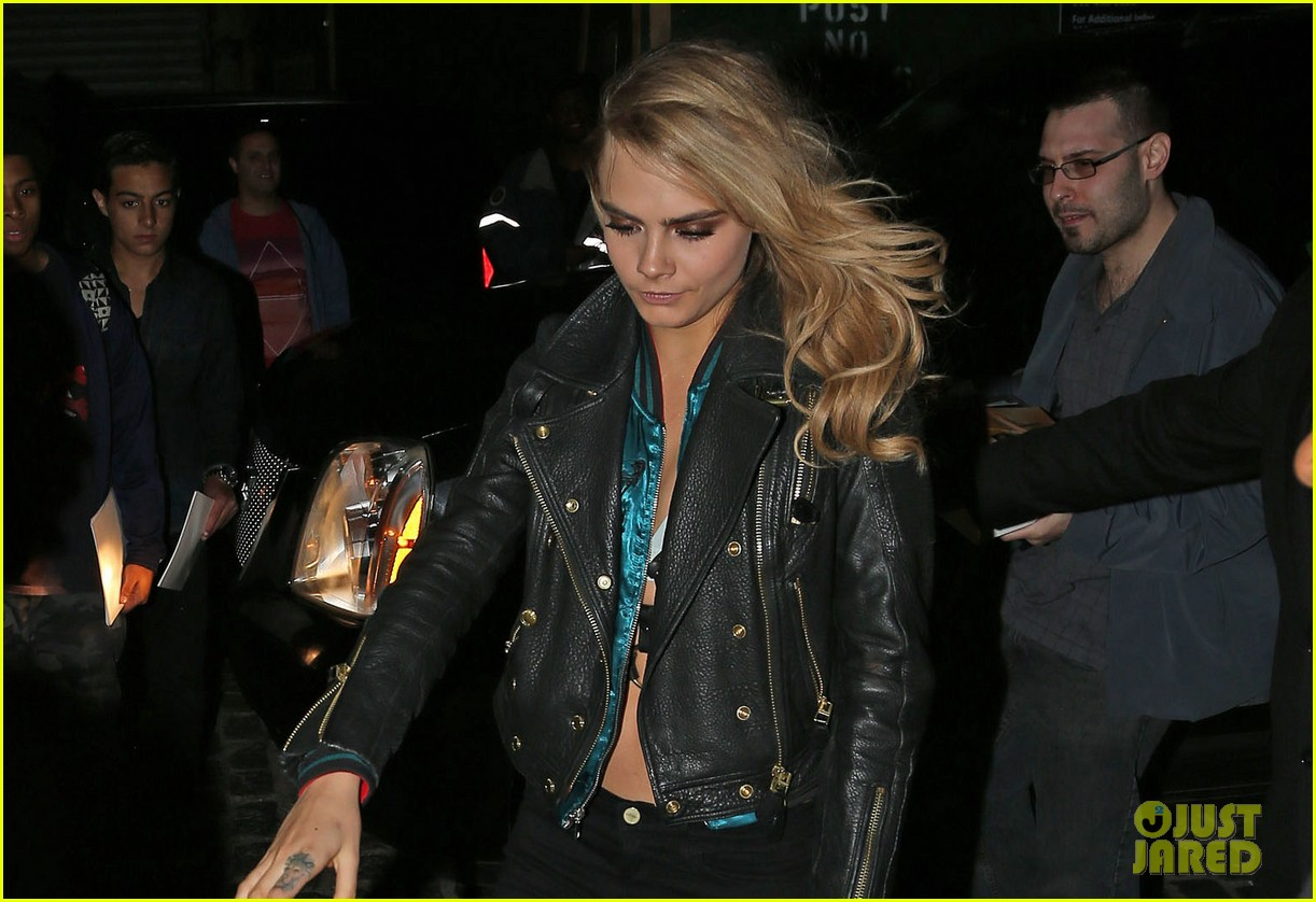 cara delevingne changes up her outfit for met ball after party 2014 02