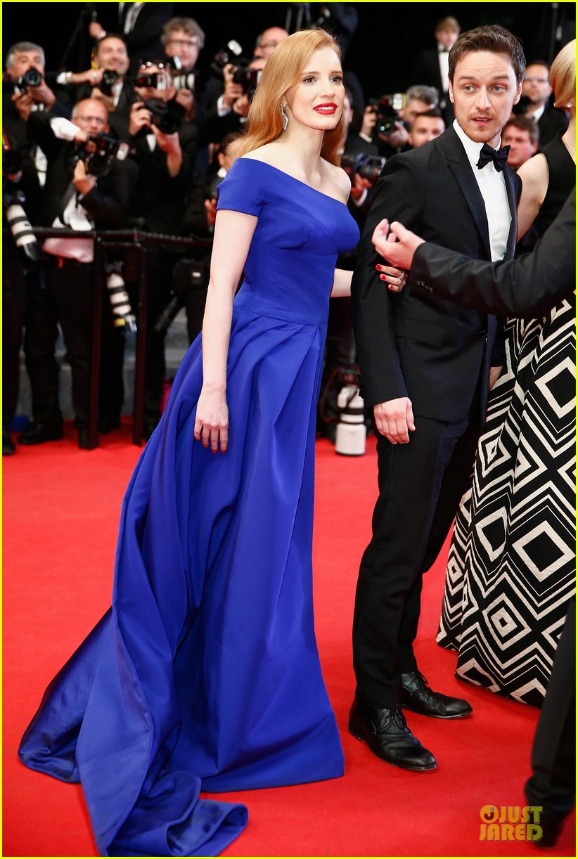 jessica chastain blue at disappearance of eleanor rigby cannes premiere 08