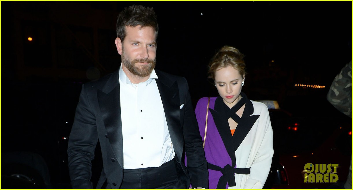bradley cooper suki waterhouse hold hands at met ball after party 2014 023106739