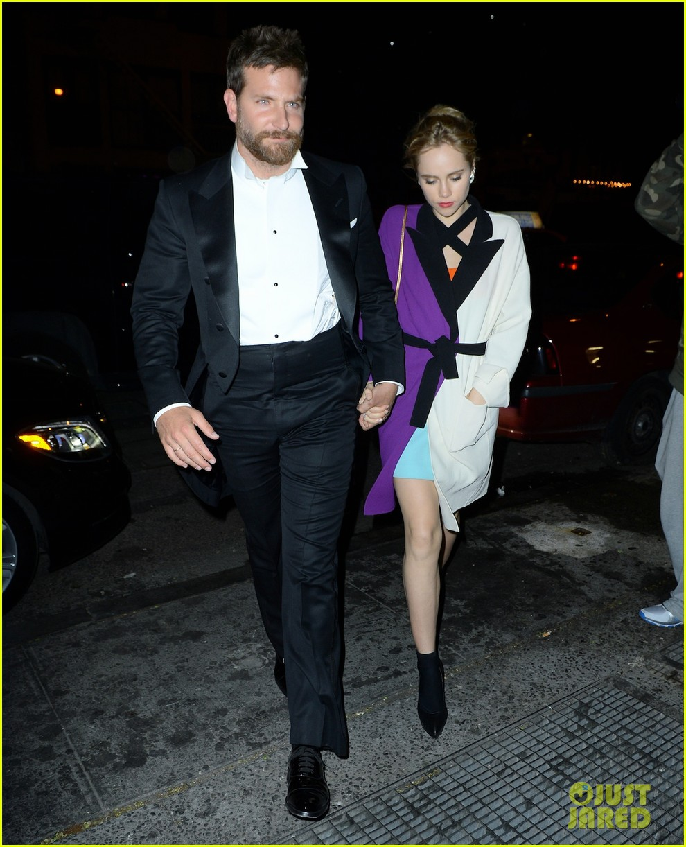 bradley cooper suki waterhouse hold hands at met ball after party 2014 043106741