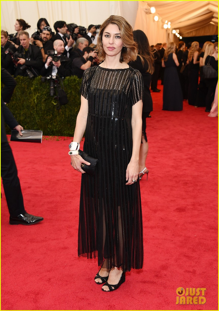 sofia coppola stands in front of the camera at met ball 2014 04