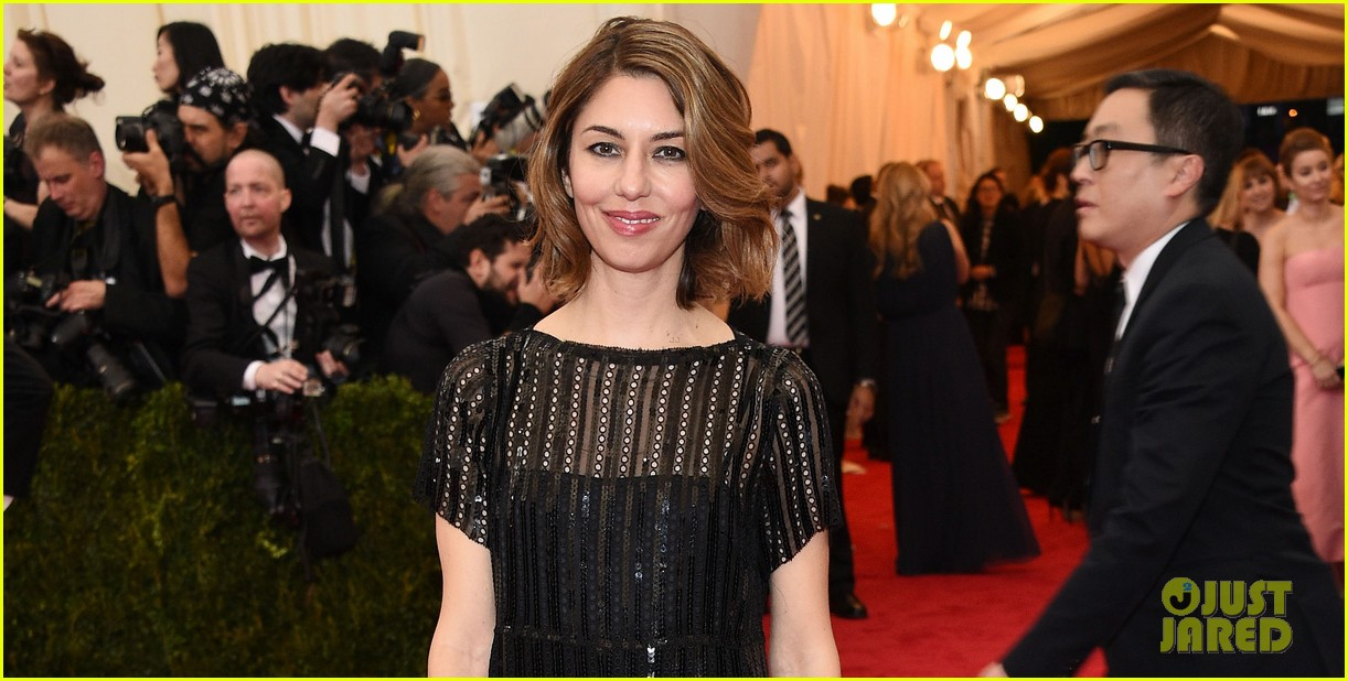 sofia coppola stands in front of the camera at met ball 2014 05