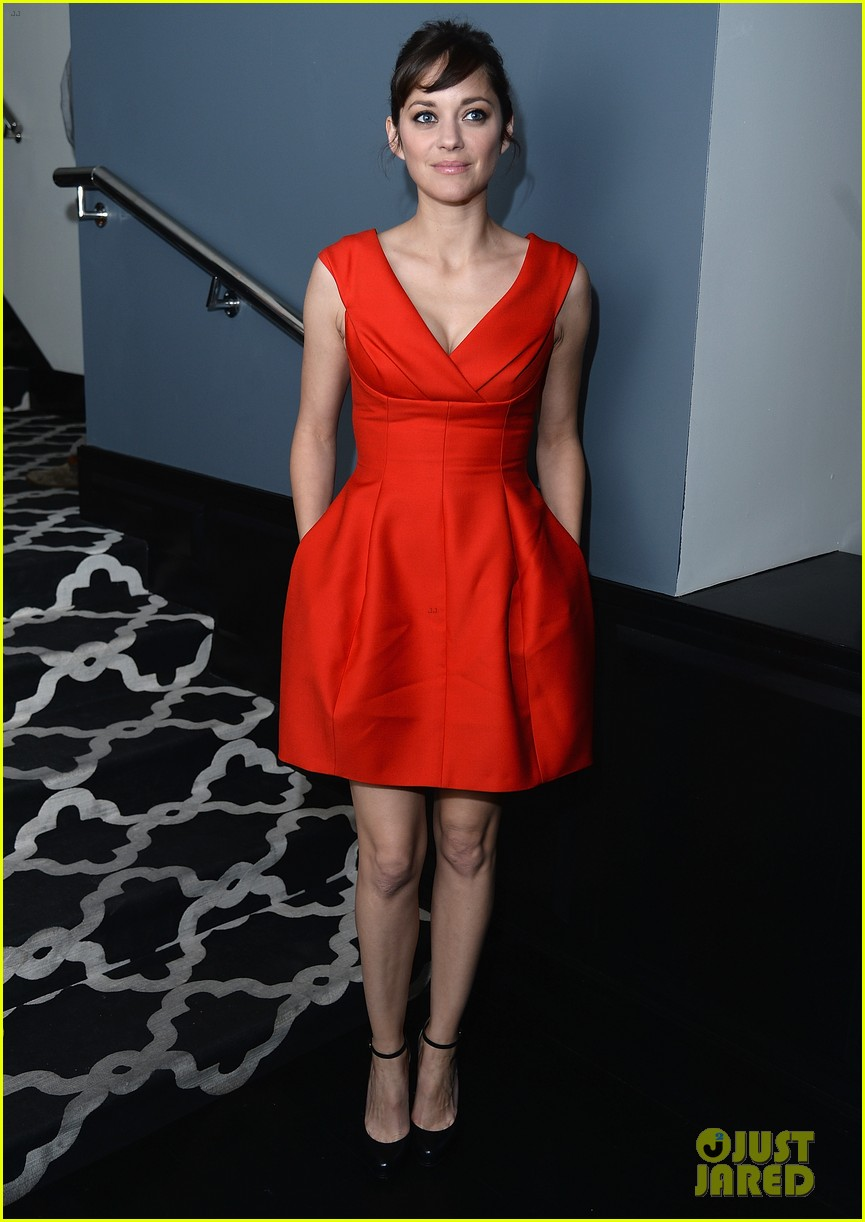 Marion Cotillard Switches Into Bright Mini Dress for The Immigrant ...