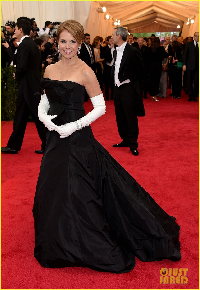 katie couric white glove glam at met ball 2014 05