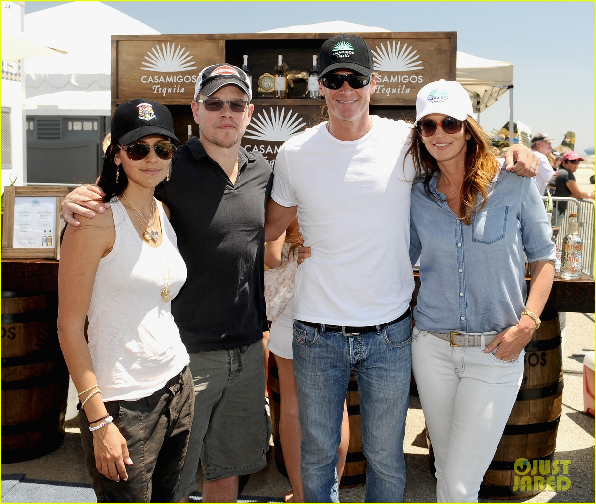 matt damon wife luciana mingle horsemen flight team 033105161