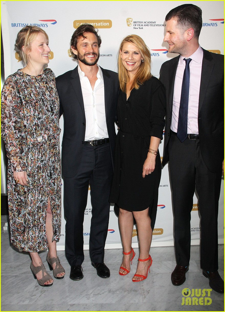 claire danes supports hubby hugh dancy at bafta conversation 04