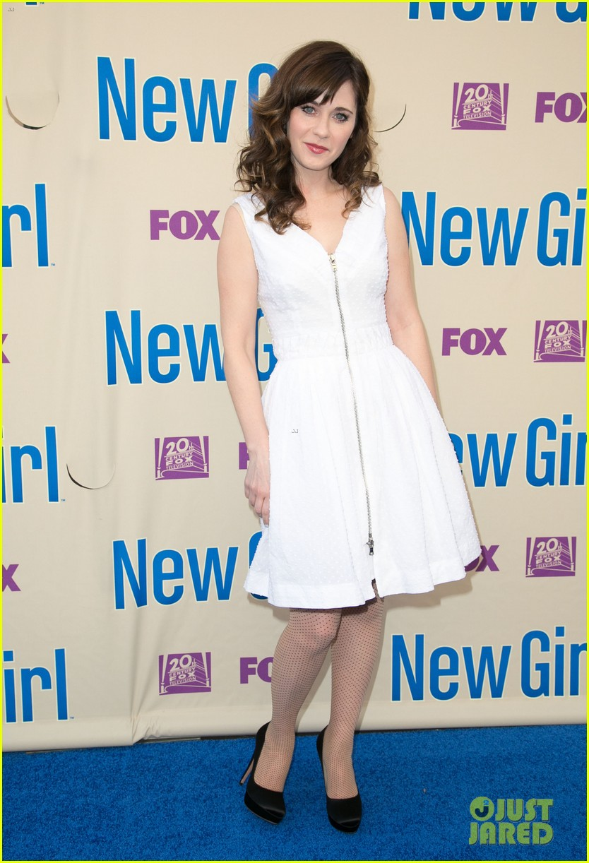 zooey deschanel joins new girl cast for season three finale screening 11