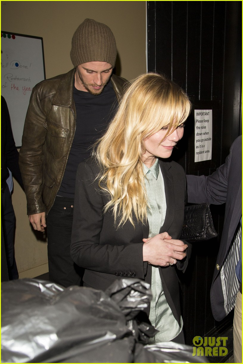 kirsten dunst garrett hedlund have date night at chiltern firehouse 033113930