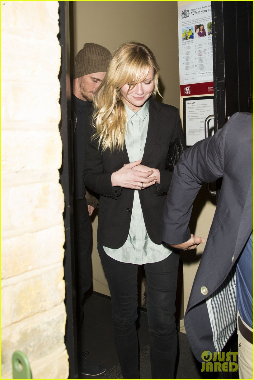 kirsten dunst garrett hedlund have date night at chiltern firehouse 163113943