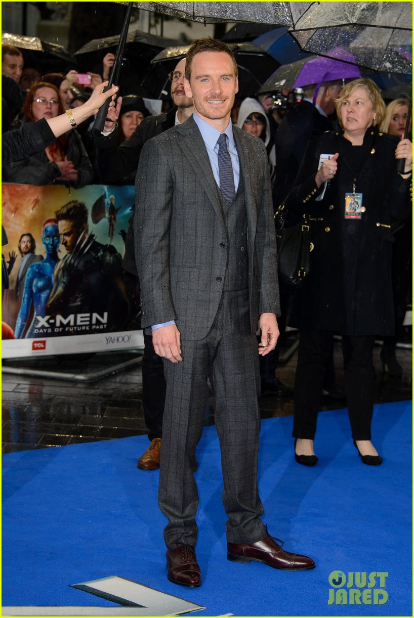 michael fassbender james mcavoy x men london premiere 11