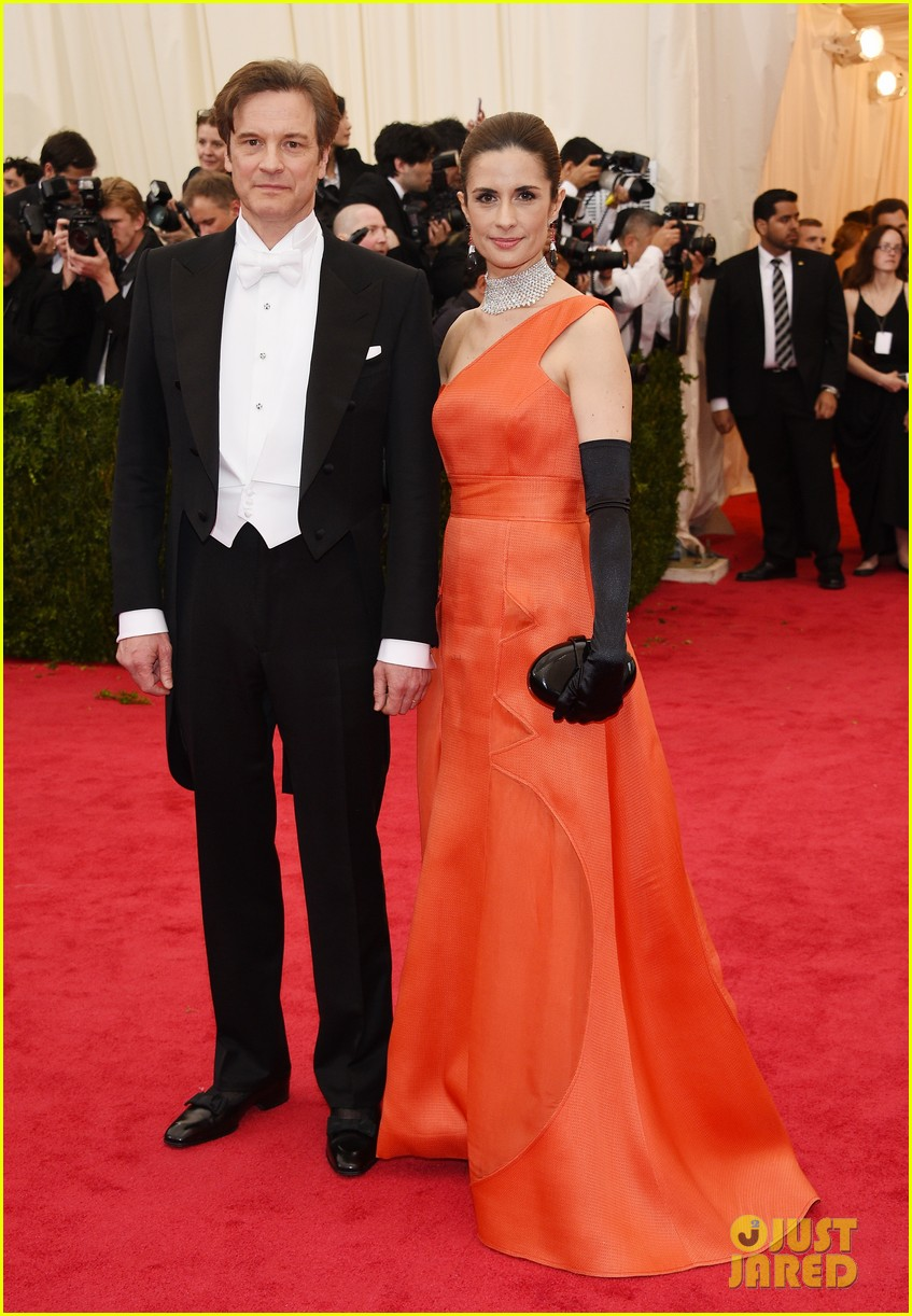 colin firths wife livia stares lovingly at her husband at met ball 2014 03