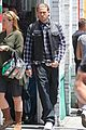 charlie hunnam gets all made up on sons of anarchy set 03