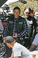 charlie hunnam gets all made up on sons of anarchy set 14
