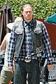 charlie hunnam gets all made up on sons of anarchy set 15