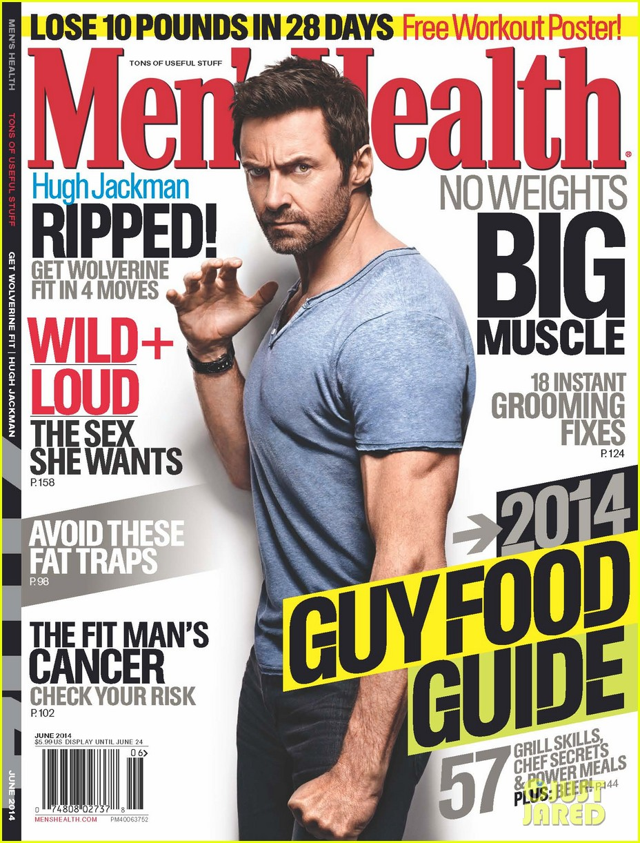 hugh jackman goes wolverine for mens health june 2014 013113137