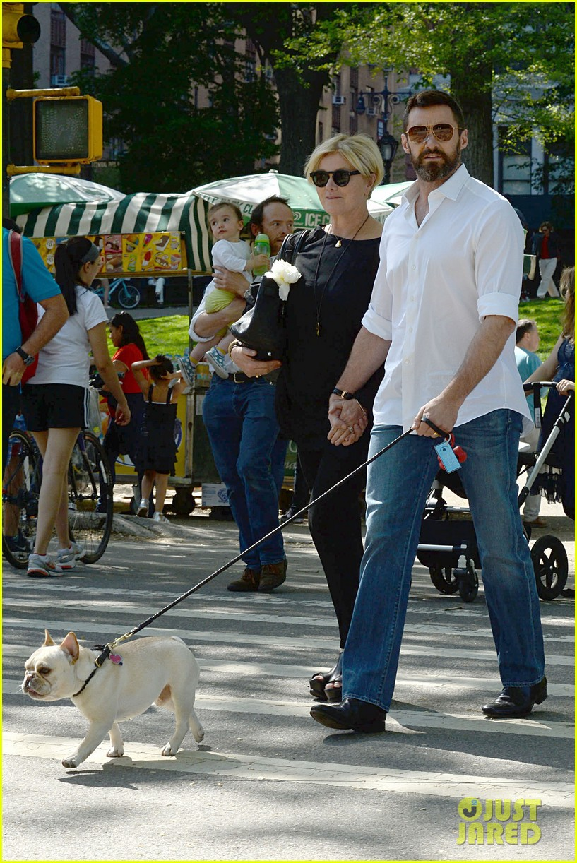 hugh jackman mothers day with deborra lee furness 103111393