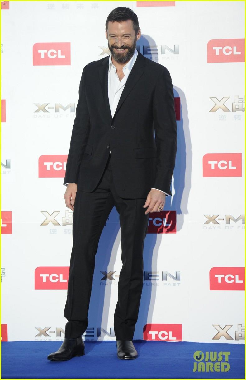 hugh jackman premieres x men with fan bingbing peter dinklage in beijing 093113089