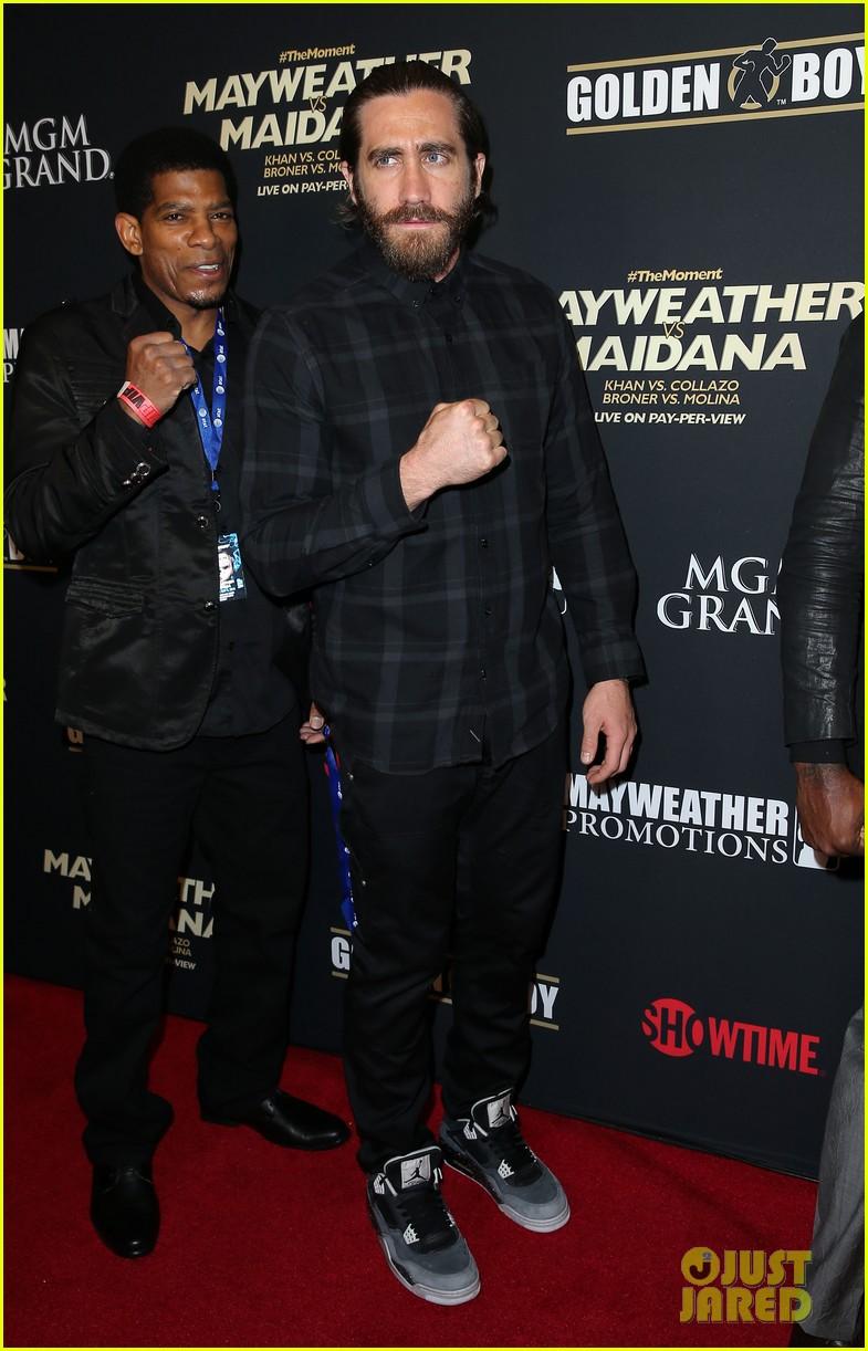 jake gyllenhaal justin bieber floyd mayweather fight las vegas 093104917