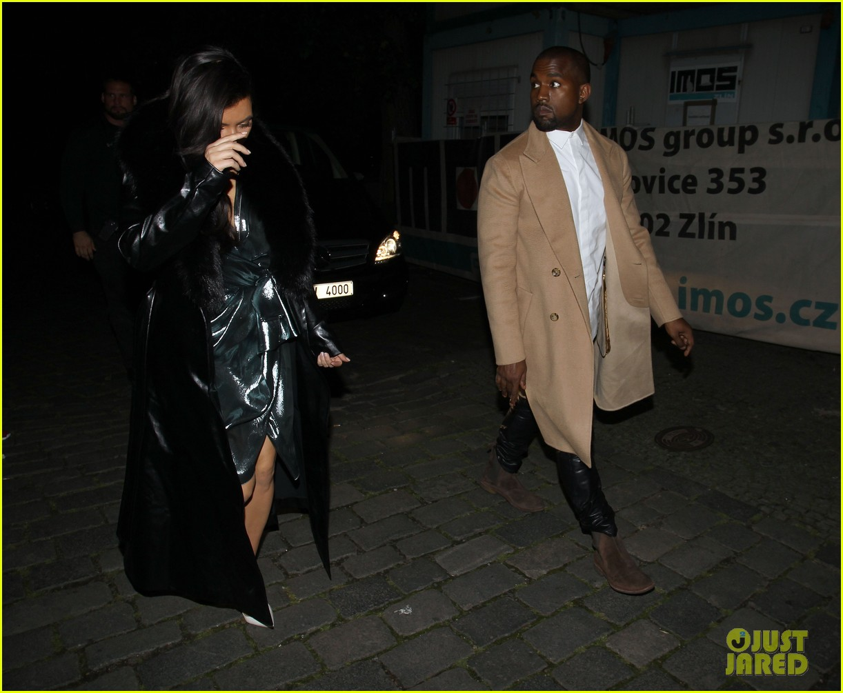 kim kardashian wears flashy dress for honeymoon date night 27