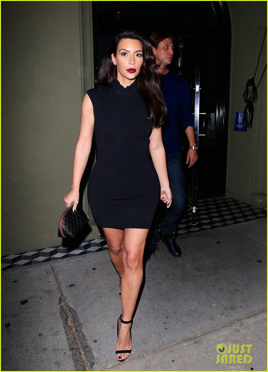 kim kardashian joins khloe to support french montana 013113366