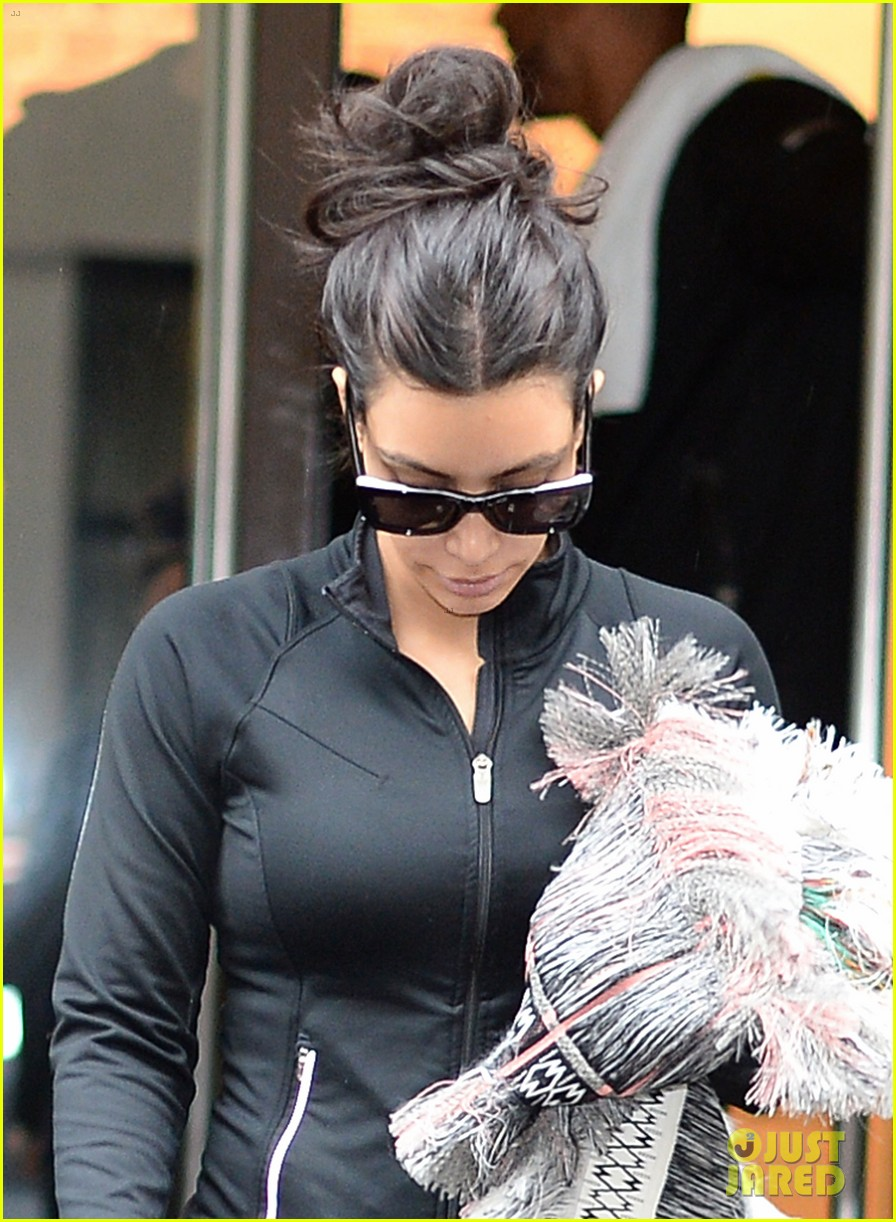 kim kardashian wears tight leather dress for pre wedding shopping 10